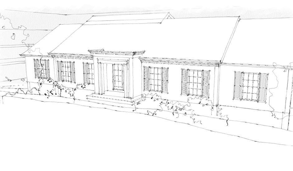 Family Ranch Home Renovation - Sketch 1